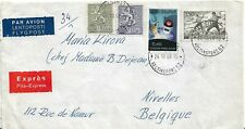 Enveloppe / courrier - Finlande (Helsinki) vers Belgique - 1968 - Exprès/Avion