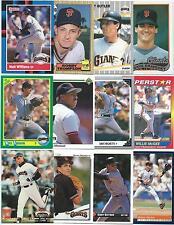 Huge Lot of 1000 San Francisco Giants Cards; 1986-1997; NM-Mint