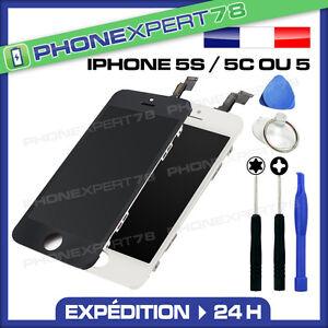 VITRE TACTILE IPHONE 5S / 5C / 5 + ECRAN LCD SUR CHASSIS QUALITÉ PREMIUM + OUTIL