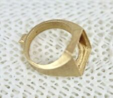 14k Ring Setting Size 8.5 - Unfinished Cast Gold Mens Ring Blank - 8.9 Grams