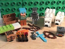 LEGO Minecraft the Polar Igloo 21142 Minifig Lot Minifigure Bear Alex Stray