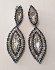 Wedding/Bridal/Formal Leaf Shaped Clear/Black Rhinestone Earring
