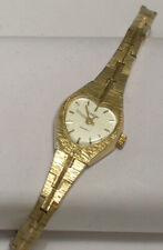 Armitron Woman's Watch Heart Shaped Crystal Gold Colored Band 25/5048-49 R753