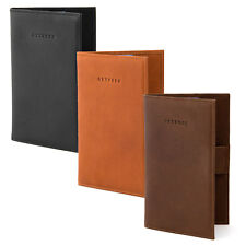 Hoxton Genuine Leather Golf Scorecard Holder with Pen Loop by Gryphen