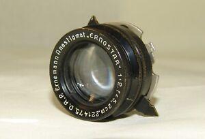 D.R.P. Ernemann Anastigmat ERNOSTAR 2/52mm.mount movie camera KINAMO-35mm.