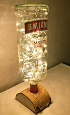 Smirnoff Vodka Large 1.5ltr Glass Bottle,Lamp/Light 60 Micro LED Lights.