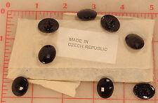 """1 gross Wholesale Czech glass buttons faceted oval shank 18 x 14mm 3/4x1/2"""" 598"""