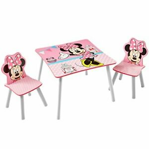 Minnie Mouse Kids Table & 2 Chair Play Set - Quick Easy Assembly