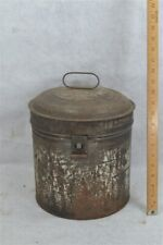hat box tin metal tall top hat travel suit case antique 19th c original