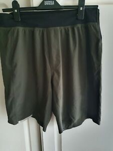 MENS LULULEMON GREEN SHORTS SIZE S/M USED ONLY 2X!!