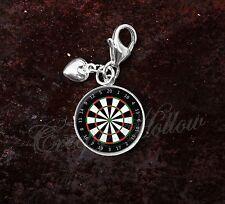 925 Sterling Silver Charm Darts Game Dart Board