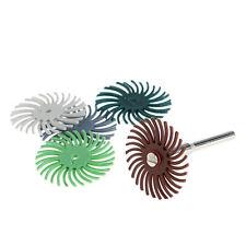 6Pcs Detail Abrasive Brush Mixed Grit Coarse Tool Set For Rotary Tools