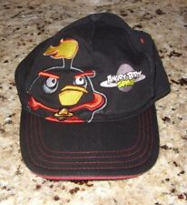 ANGRY BIRDS SPACE BLACK BASEBALL CAP WITH EMBROIDERY YOUTH ONE SIZE SNAP-BACK