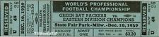 1 1939 NFL CHAMPIONSHIP VINTAGE UNUSED FULL TICKET NY GIANTS  PACKERS laminated