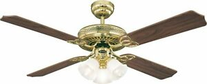 Traditional style ceiling fan with lights Westinghouse Monarch Trio 132 cm / 52""