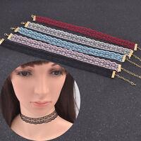New Fashion Women's Retro Lace Choker Necklace Collar Chain Necklace Jewellery