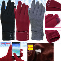 Fashion Elegant Phone Touch Screen Women Warm Windproof Outdoor Sport Gloves Apt