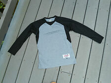 Intensity Athletics RashGuard Long Sleeve Shirt Grappling SportTop Grey/Black Ym