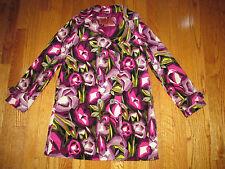 Missoni for Target Girls Size L Purple Passione Floral Velvet Trench Coat Jacket