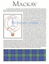 SCOTTISH CLAN MACKAY FAMILY HISTORY Ready to Frame Print - Tartan - History