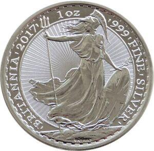 2017 Royal Mint Britannia £2 Two Pound .999 Silver 1oz Coin Radial Sunburst