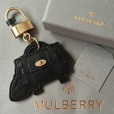 Genuine MULBERRY Black Leather Satchel Alexa Key Ring NEW +Box & Dust Bag NO TAG