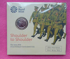 2016 THE ARMY  £2 TWO POUND BU COIN PACK