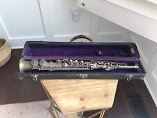 1926 C.G. Conn Elkhart Soprano Saxophone Silver Rolled Tone Holes Original Case
