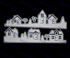 2 Street Houses Metal Cutting Dies, Card making, Scrapbooking *UK SELLER* F2