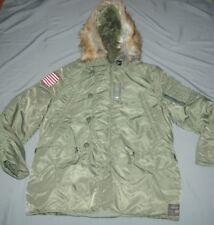 NEW Ralph Lauren Denim Supply Down Jacket Hooded Coat Military Parka XXL $345