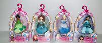 DISNEY PRINCESS ROYAL CLIPS (LOT OF 4) - Jasmine/Merida/Cinderella/Tiana