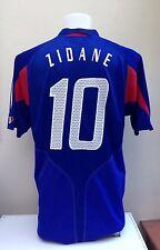 France Football Shirt Jersey ZIDANE  Large L 2004 2005 Home Adults Adidas