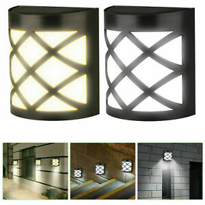 Garden Solar Wall Fence Door Shed Step Lights Bright 6 LEDs Outdoor Fence Light
