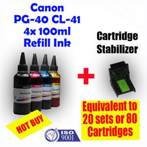 Canon Canon PG40 CL41 Refill Color Ink 4x100ml MP210 MP460 MP450 MP470 MP310