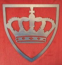 Stemma fregio decoro corona in ferro per cancello inferriate a saldare