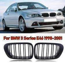 For BMW E46 2D Cabriolet Coupe Pre-Facelift Matte Black Kidney Grill M3 99-02