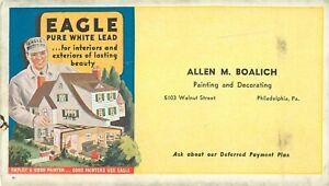 Eagle White Lead Paint Advertising Pen Ink Blotter Boalich Walnut St