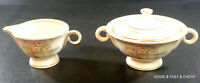 APPLE BLOSSOM by THEODORE HAVILAND New York~ Creamer & Covered Sugar Bowl Set