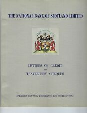 TRAVELERS CHECKS & LETTERS OF CREDIT SCOTLAND NATIONAL BANK 1955 SPECIMENS