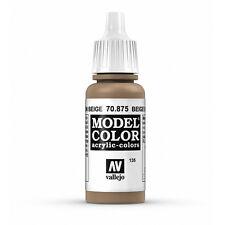 Vallejo Model Color: Beige Brown - VAL70875 Acrylic Paint Bottle 17ml 135