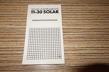 Anleitung Texas Instruments Taschenrechner TI30 Solar