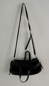 Fossil Vintage Black Soft Smooth Leather Multi Pocket Shoulder and Two Hand Bag