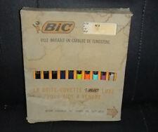 Vintage Bic Antiderapant M8 Original Ballpoint Box Set of 10 Pens France 60s?
