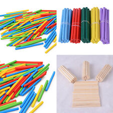 Practical 100Pcs Wooden Boys Kids Learning Arithmetic Math Digital Stick Toy