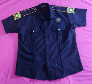 Correctional Officer Zip Top With Fake Buttons T Shirt Size XL
