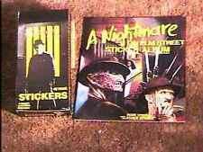 NIGHTMARE ON ELM ST STICKER ALBUM & FULL BOX OF CARDS