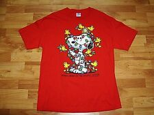 Snoopy Woodstock Friends Brighten Holiday Season Adult Large T-shirt Christmas
