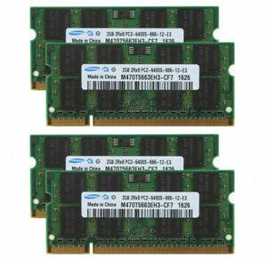 4pcs New Samsung 2GB 2Rx8 PC2-6400 DDR2 800Mhz 200pin SO-DIMM Laptop Memory
