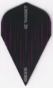 Purple Target VAPOR Dart Flights: 3 per set