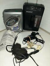 Vintage Sony Walkman Wm-F2015 and Wm-Fx281 Am Fm Radio Cassette Weather Band